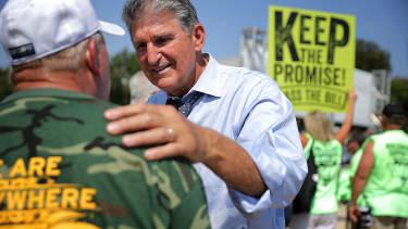 Sen. Joe Manchin threatens government shutdown over miners