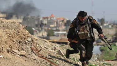 An Iraqi soldier in Mosul.