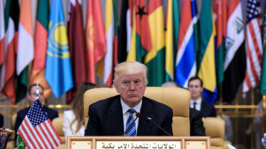 President Trump in Saudi Arabia.