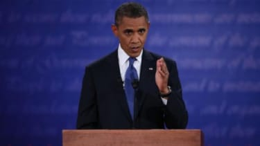 President Barack Obama at the first presidential debate last week in Denver: Andrew Sullivan argues that Obama's disastrous performance may have cost him the election.