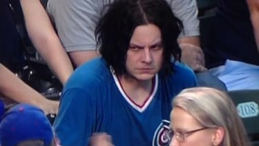 Jack White looked absolutely bummed to be stuck at a Chicago Cubs game