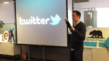 Twitter, founded by Evan Williams (pictured) and Biz Stone, was reportedly valued at $3.7 billion last December and is now being shopped around for more than double that price.