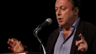 Novelist Christopher Hitchens.