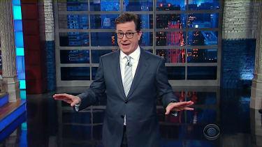 Stephen Colbert, still shocked by Trump tweets