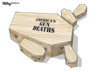 Editorial Cartoon U.S. gun deaths
