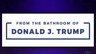 Late night mocks Trump blog