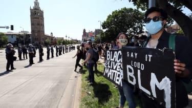 Black Lives Matter supporters in Kansas City, Missouri.