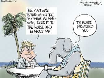 Political Cartoon U.S. trump house gop impeachment