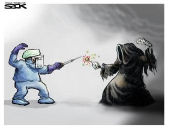 Editorial Cartoon U.S. Vaccines COVID