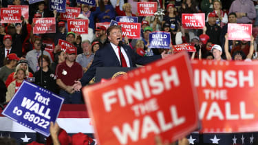 Trump at a rally in Texas