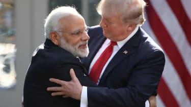 Trump and Indian Prime Minister Narendra Modi