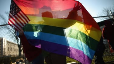 Same sex marriage supporters: Rhode Island becomes the 10th state to legalize gay marriage.