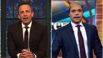 Trevor Noah and Seth Meyers on the Trump-Conway feud