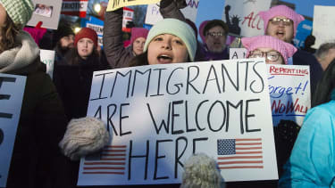 Americans protest President Trump's immigration order