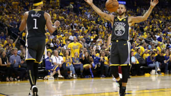 Stephen Curry in Game 2 of the 2018 NBA Finals