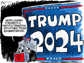 Political Cartoon U.S. GOP Trump 2024