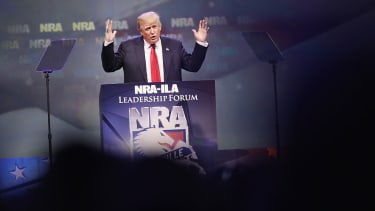 Donald Trump at the NRA's annual meeting in 2016.