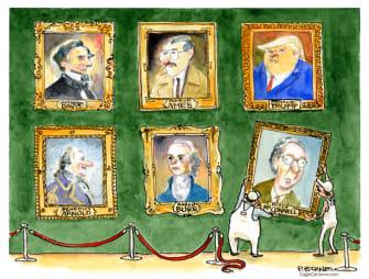 Political Cartoon U.S. trump mcconnell impeachment vote
