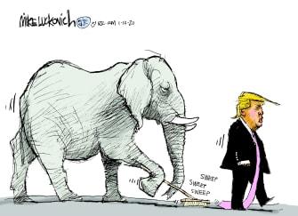 Political Cartoon U.S. Trump Iran GOP