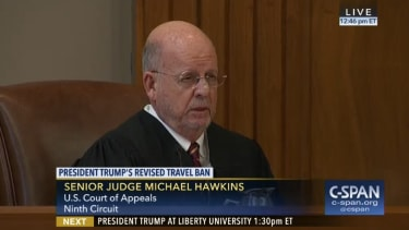 Judge Michael Hawkins.