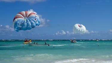 Tourists out on the water in the Dominican Republic.
