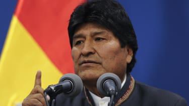 Bolivian ex-president Evo Morales.