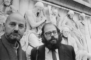 Lawrence Ferlinghetti (left) and Allen Ginsberg
