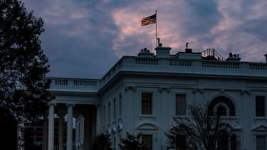 The sun rises over the White House on November 1, 2020 in Washington, DC.