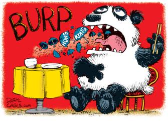 Editorial Cartoon World China Hong Kong