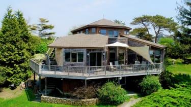 Homes on the Massachusetts coast.