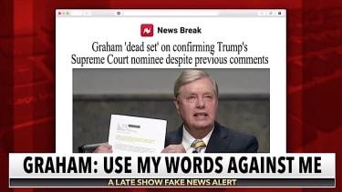 The Late Show slams Lindsey Graham