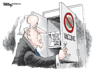 Political Cartoon U.S. biden trump covid vaccine