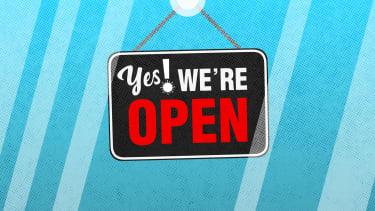 An open sign.