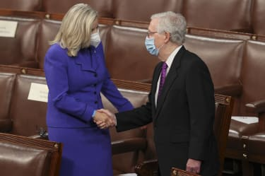 Liz Cheney and Mitch McConnell