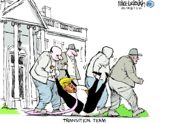 Political Cartoon U.S. Trump transition