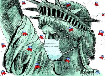 Political Cartoon U.S. GOP COVID