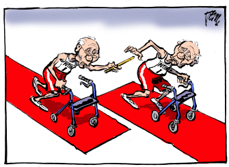Political Cartoon World Russia Putin government resignations