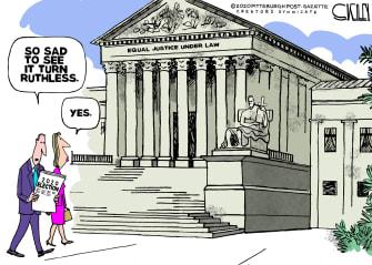 Political Cartoon U.S. Ginsburg SCOTUS 2020