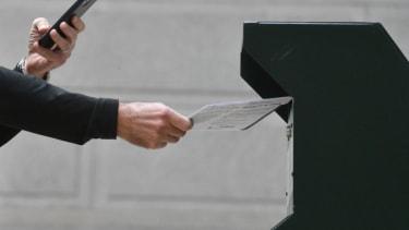 Pennsylvania ballot drop box.