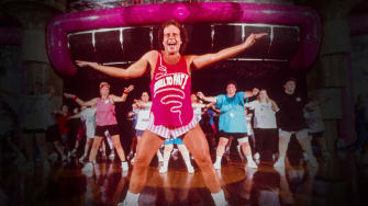 Richard Simmons teaches during his 'Cruise to Lose'.