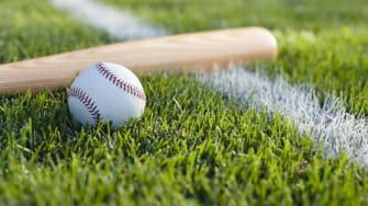 Baseball and bat.
