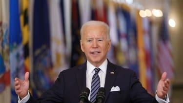 Joe Biden speaks about COVID-19 anniversary