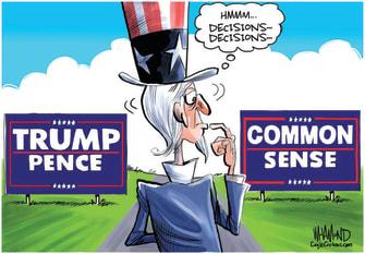 Political Cartoons U.S. Trump Biden decision