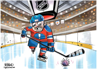 Editorial Cartoon U.S. NHL hockey coronavirus