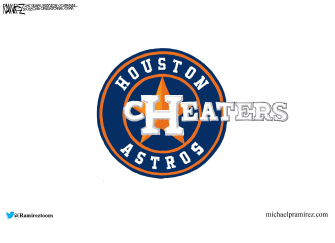 Editorial Cartoon U.S. Houston Astros MLB cheaters