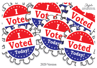 Editorial Cartoon U.S. 2020 stickers