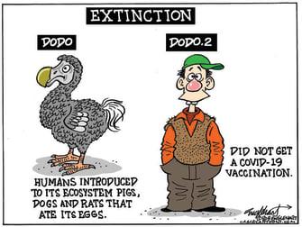 Editorial Cartoon U.S. covid vaccine anti vaxxers