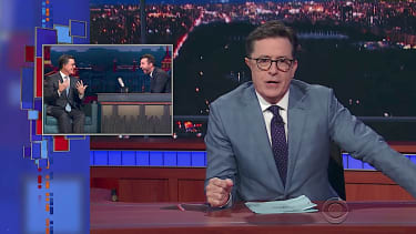 Stephen Colbert shows himself on Russian late-night TV