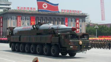 North Korea military parade.