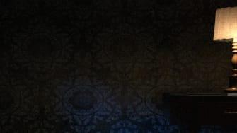 A dark room.